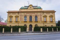 Vieille école dans Uherske Hradiste Photographie stock libre de droits
