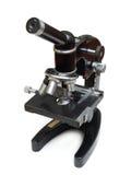 vieille école de microscope Photographie stock libre de droits