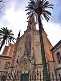 Vieille église à Barcelone image stock