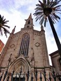 Vieille église à Barcelone photographie stock libre de droits