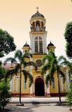 Vieille église à la campagne en Yen Bai, Vietnam Photographie stock