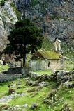 Vieille église à proximité de Kotor Images libres de droits