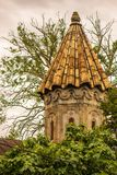 Vieille église albanaise dans Sheki, montagnes de Caucase Photographie stock libre de droits