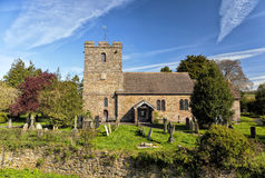 Vieille église anglaise, Stokesay, Shropshire, Angleterre Image libre de droits