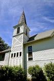 Vieille église blanche de pays Images libres de droits