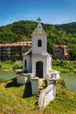Vieille église catholique dans Prijepolje, Serbie Photographie stock
