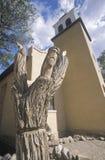 Vieille église catholique de mission dans Cerillos Nouveau Mexique Image stock