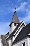 Vieille église catholique et clocher dans Groton, le Massachusetts, Etats-Unis Photo stock