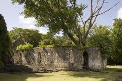 Vieille église détruite par Lava Images libres de droits