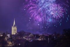 Vieille église dans Cesis, Lettonie Bâtiments historiques et ville Image stock