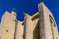 Vieille église dans le Grimaud-port Grimaud, France de port Photos libres de droits