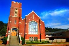 Vieille église de brique Photographie stock