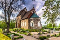 Vieille église de Gamla Upsal, Suède images stock