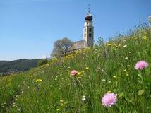 Vieille église de montagne Photos stock