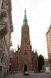 Vieille église de rue Gertrude, Riga, Lettonie Image libre de droits