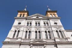 Vieille église de saint Jacob à Lodz Photographie stock