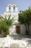 Vieille église de scène grecque d'île Images libres de droits