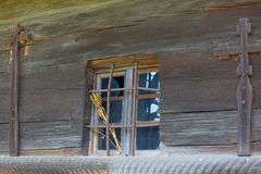 Vieille église en bois Image libre de droits