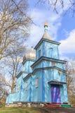 Vieille église en bois dans le village de Kutyska, Ukraine Photos stock