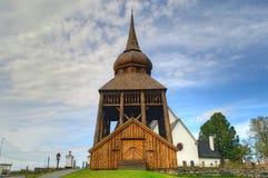 Vieille église en bois en Suède Photos stock