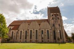 Vieille église gothique à Copenhague, Danemark Images libres de droits