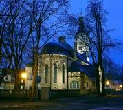 Vieille église luthérienne au centre de station de vacances de Jurmala, Lettonie Image stock