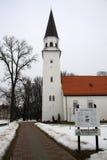 Vieille église luthérienne de St Berthold dans Sigulda, Lettonie Photo stock