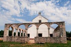 Vieille église médiévale de St Fosca Photo stock