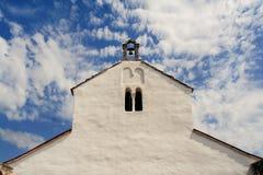 Vieille église médiévale de St Fosca Images stock