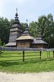 Vieille église orthodoxe en bois Images libres de droits