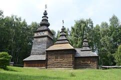 Vieille église orthodoxe en bois Photos libres de droits
