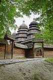 Vieille église orthodoxe en bois Image stock
