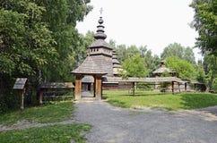 Vieille église orthodoxe en bois Image libre de droits