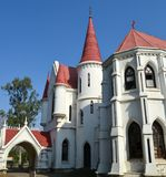 Vieille église rouge Indore Photographie stock