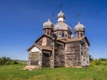 Vieille église ukrainienne abandonnée Photographie stock