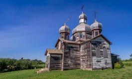 Vieille église ukrainienne abandonnée Photographie stock libre de droits