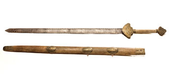 Vieille épée photo stock
