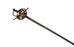 Vieille épée d'acier froid Photographie stock