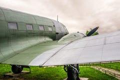 Vieille épave d'un avion de WW2 Photographie stock libre de droits