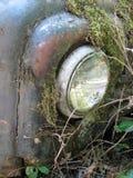 Vieille épave de voiture dans les bois Images libres de droits