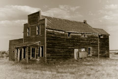 Vieille épicerie générale abandonnée Image libre de droits