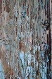 Vieille épluchée peinture bleue en bois superficielle par les agents de tourquoise Images stock
