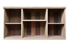 Vieille étagère en bois vide Photo libre de droits