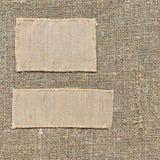 Vieille étiquette de textile images stock