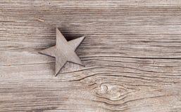 Vieille étoile de Noël Images libres de droits