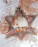 vieille étoile juive Six-aiguë Photographie stock libre de droits