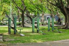Vieille adresse verte de parc de bascule images libres de droits