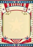 Vieille affiche américaine Images libres de droits