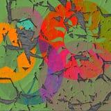 Vieille affiche de fond abstrait coloré, peinture sur le bois Photo libre de droits