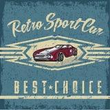 vieille affiche de grunge de vintage de voiture Photo libre de droits